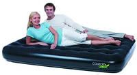 Надувная двуспальная кровать Bestway 67380 Comfort Green Double (191x137x22см, + ремнабор)