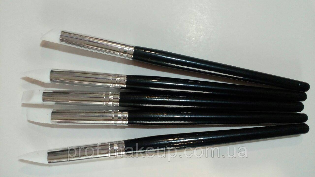 Набор силиконовых кисточек для маникюра (5 шт)