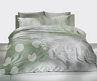 Двуспальное евро постельное белье TAC Grisel Green Сатин