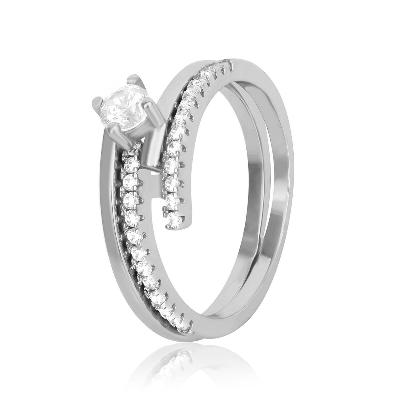 """Серебряное кольцо с камнями """"227"""""""