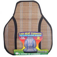 Накидка сидения бамбуковая CU1250 BK (2шт) черная соломка , высокая