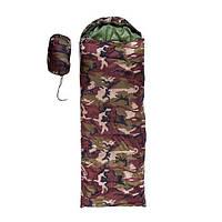Спальный мешок GREEN CAMP 250ГР/М2 (коричневый камуфляж)