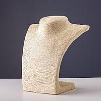 Демонстрационный бюст (шея) пшеничная  нить h=22 см