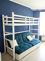 Кровать двухъярусная деревянная  1