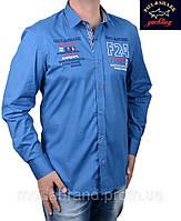 Стильная мужская рубашка Paul Shark-1499 синяя