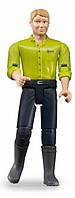 Фигурка мужчины в синих брюках и зеленой рубашке Bruder (60005)