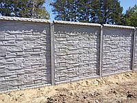 Секция бетонного забора (РАССРОЧКА НА 4 МЕСЯЦА) Киев-Одесса сланец, фото 1
