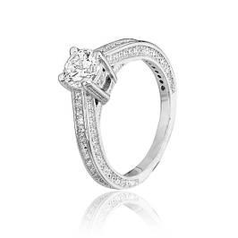 Серебряные родированные кольца