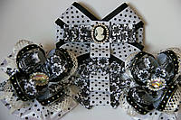 Набор школьный 2 галстук-брошь с бантами