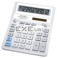 Калькулятор Citizen SDC-888XWH, настольный, 12-разрядный, литиевая + солнечная батарея (SDC-888XWH)