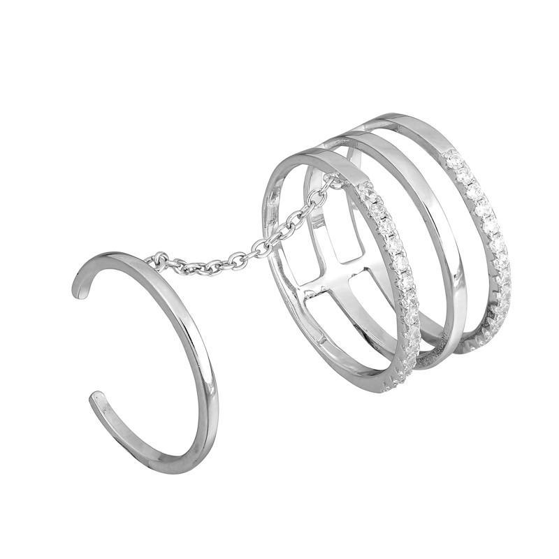 "Серебряное родированное кольцо ""234"""