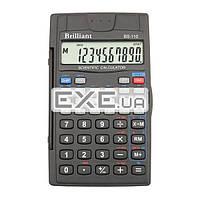 Калькулятор Brilliant BS-110, инженерный, 8-разрядный (мантисса) + 2 (экспонента), литиевая (BS-110)