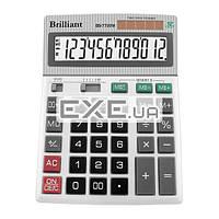 Калькулятор Brilliant BS-7722M, настольный, 12-разрядный, литиевая + солнечная батарея (д