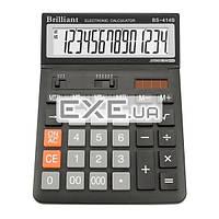 Калькулятор Brilliant BS-414, настольный, 14-разрядный, литиевая + солнечная батарея (двойн (BS-414)