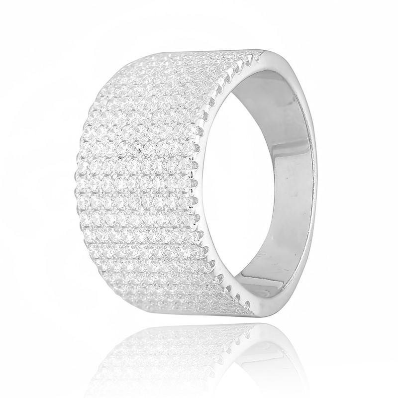 "Серебряное родированное кольцо ""236"""
