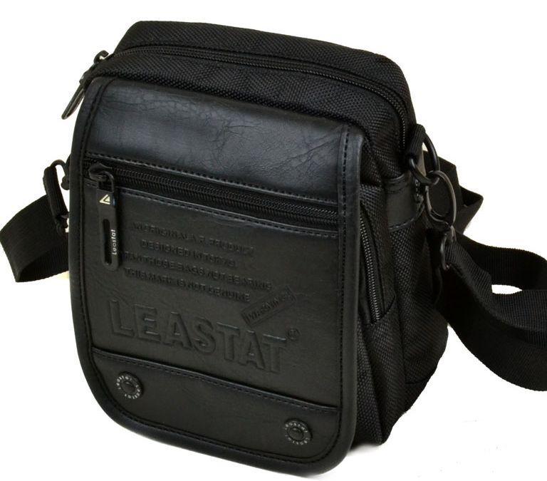 Стильная мужская сумка Leastat 307-2 black Черный