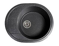 Мойка кухонная Комфи, цвет - чёрный (ДхШхГ-580х470х200)