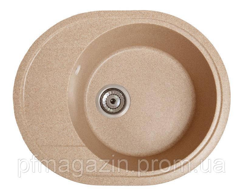 Мойка кухонная Solid Комфи, песочый (ДхШхГ-580х470х200)