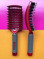 Расческа, щетка с натуральной щетиной для укладки и сушки волос TONY&GUY