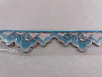 Бордюр обойный 4 см (синие)