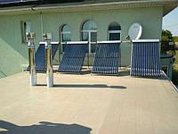 Реализованный объект в г. Запорожской области. Всесезонная гелиосистема 300 л. для подогрева крытого бассейна+поддержка отопления