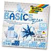 Бумага для оригами Basic с орнаментом, синяя, 5 рисунков, 50 листов, 15х15см,