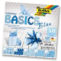 Бумага для оригами Basic с орнаментом, синяя, 5 рисунков, 50 листов, 15х15см, , фото 1