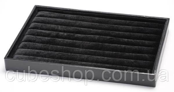 Планшет под кольца горизонтальный черный [35/25/3] - CubeShop - подарки и подарочная упаковка в Киеве