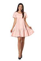 Женское платье Бриана А3  новинка, повседневное, красивое  размеров  44, 46, 48, 50, 52 льняное