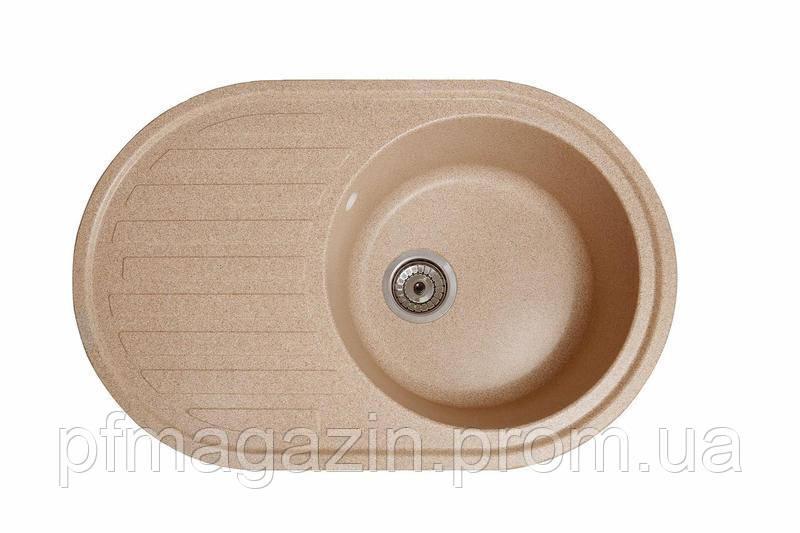 Мийка кухонна Елегант, колір - пісок (ДхШхГ-770х500х200)