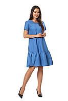 Женское платье Бриана А5  новинка, повседневное, красивое  размеров  44, 46, 48, 50, 52 льняное