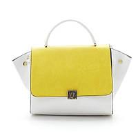 Женская сумка 89427 белая/желтая