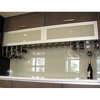 Кухонный фартук из супер чистого стекла с покраской в 1 цвет