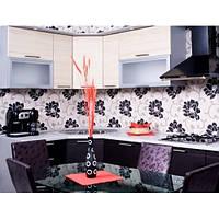 Кухонный фартук из стекла с покраской в 3 цвета