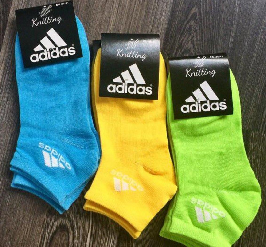 Носки женские в стиле Adidas реплика 36-41 Стрейч Хлопок