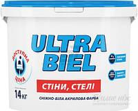 ULTRA BIEL SNIEZKA 1.4кг – Ультра-белая краска для потолков. Ультра-бель Снежка