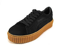 Кроссовки  Puma by Rihanna замшевые черные унисекс (р.37,38,41)