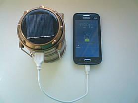 Кемпинговый складной фонарь на солнечной батарее G-85, фото 2