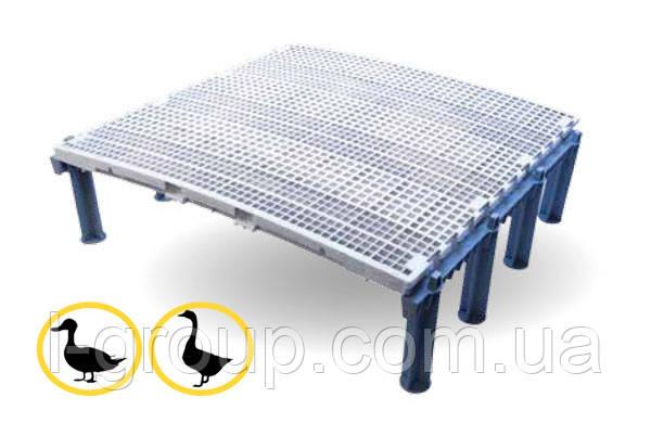 Ґратчасту підлогу для птиці 100х100 см