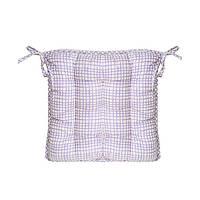 Подушка на стул Сиреневая клеточка Прованс#AndreTan