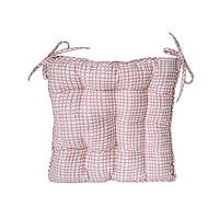 Подушка на стул Розовая клеточка Прованс#AndreTan