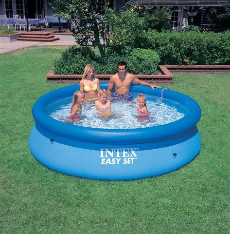 Надувной бассейн для детей от 3-х лет intex 28101 (54402), трехслойный материал, объём 2420 л, 183*51 см