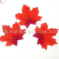 Лист клена, 10 см, красный