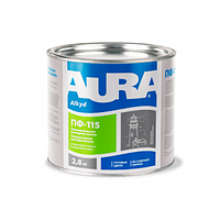 Эмаль универсальная алкидная Aura ПФ-115 салатовая