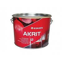 Краска износостойкая полуматовая моющаяся для стен Eskaro Akrit 12