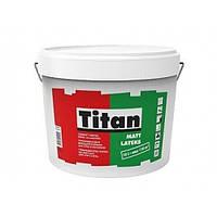 Краска матовая моющаяся для стен Titan Mattlatex TR база