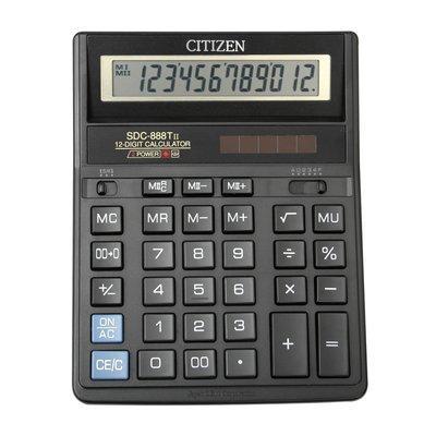 Калькулятор бухгалтерский 12р Citizen  888 черный  203 x 158 x 31