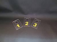 Номерки для гардеробов 40*60 мм желтый