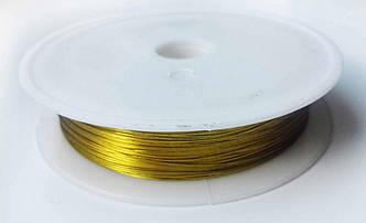 Проволока для бисера Золото 0,30 мм 30 метров