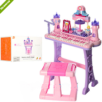 Синтезатор-конструктор детский со стульчиком Принцесса 88037